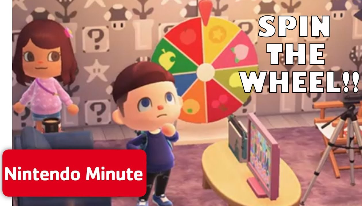 Animal Crossing: New Horizons Spin the Wheel Challenge | Nintendo Minute