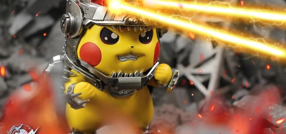 Mecha Godzilla Pikachu Figurine